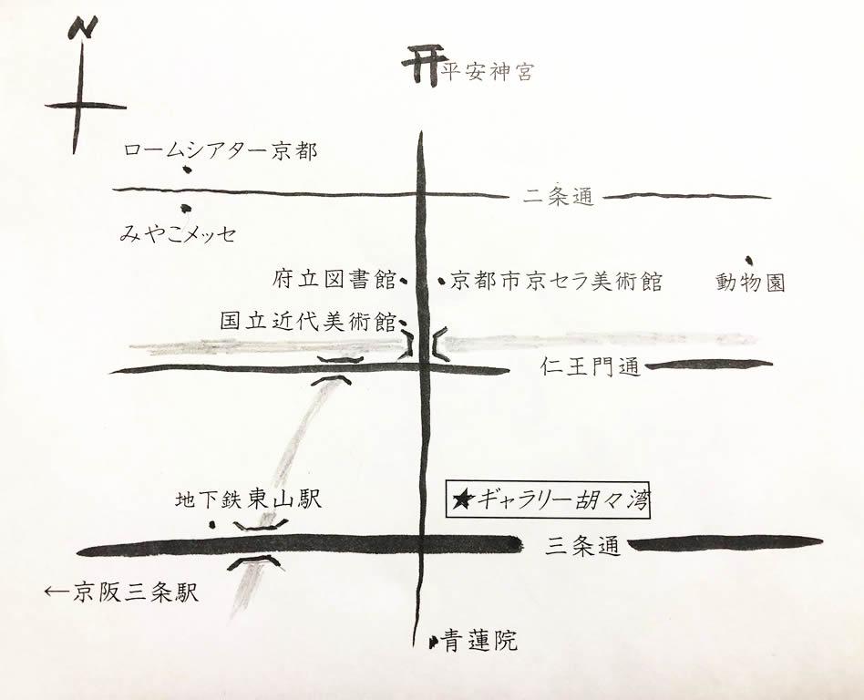 ギャラリー周辺地図